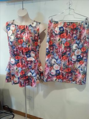 Custom Made Double Knit Floral 2pc.