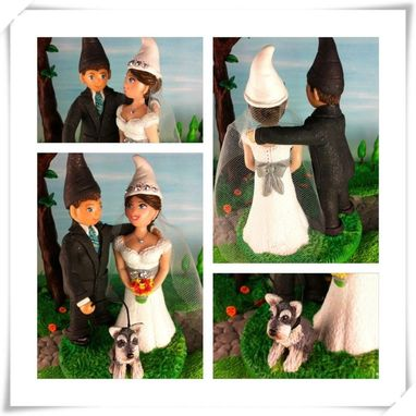 Custom Made Custom Gnomes Wedding Topper