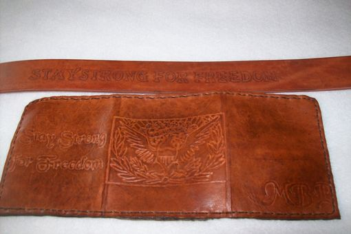 Custom Made Custom Leather Trifold Wallet With Freedom Design