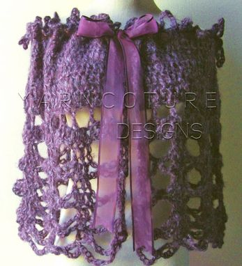 Custom Made The Victorian Lace Capelet / In Eggplant / Larger Sized / Easy Care