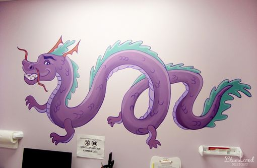 Custom Made Dragons And Dragon-Fly Mural