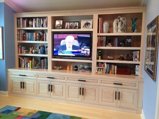 Custom Made Solid Maple Bookshelves & Cabinets