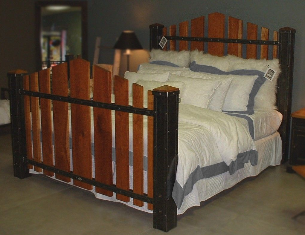 Custom Made King Size Iron And Cherry Wood Bed The Majestic