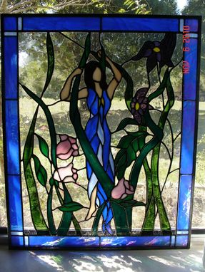 Custom Made Mother Nature Stained Glass Panel