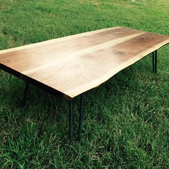 Buy A Hand Crafted Live Edge Walnut Coffee Table, Made To