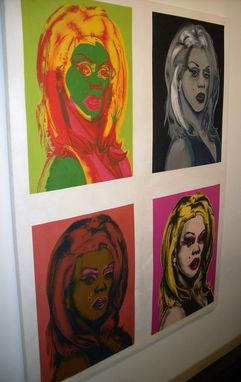 Custom Made Andy Warhol Trompe L'Oeil Painting Of Trompe L'Oeil Rupaul Silkscreen