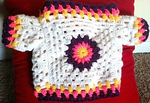 Custom Made Crocheted Baby Sweater