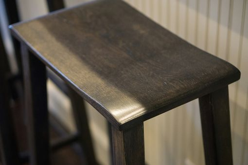 Custom Made Saddle Seat Bar Stool