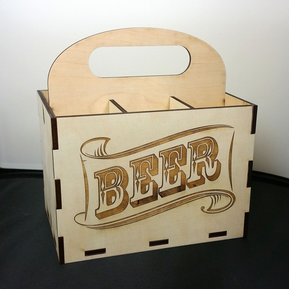 Custom Wooden Laser Cut Beer Case By Nygaard Design