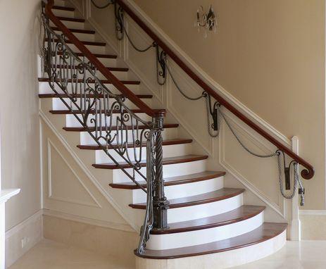 hand made unique interior railing by maynard studios