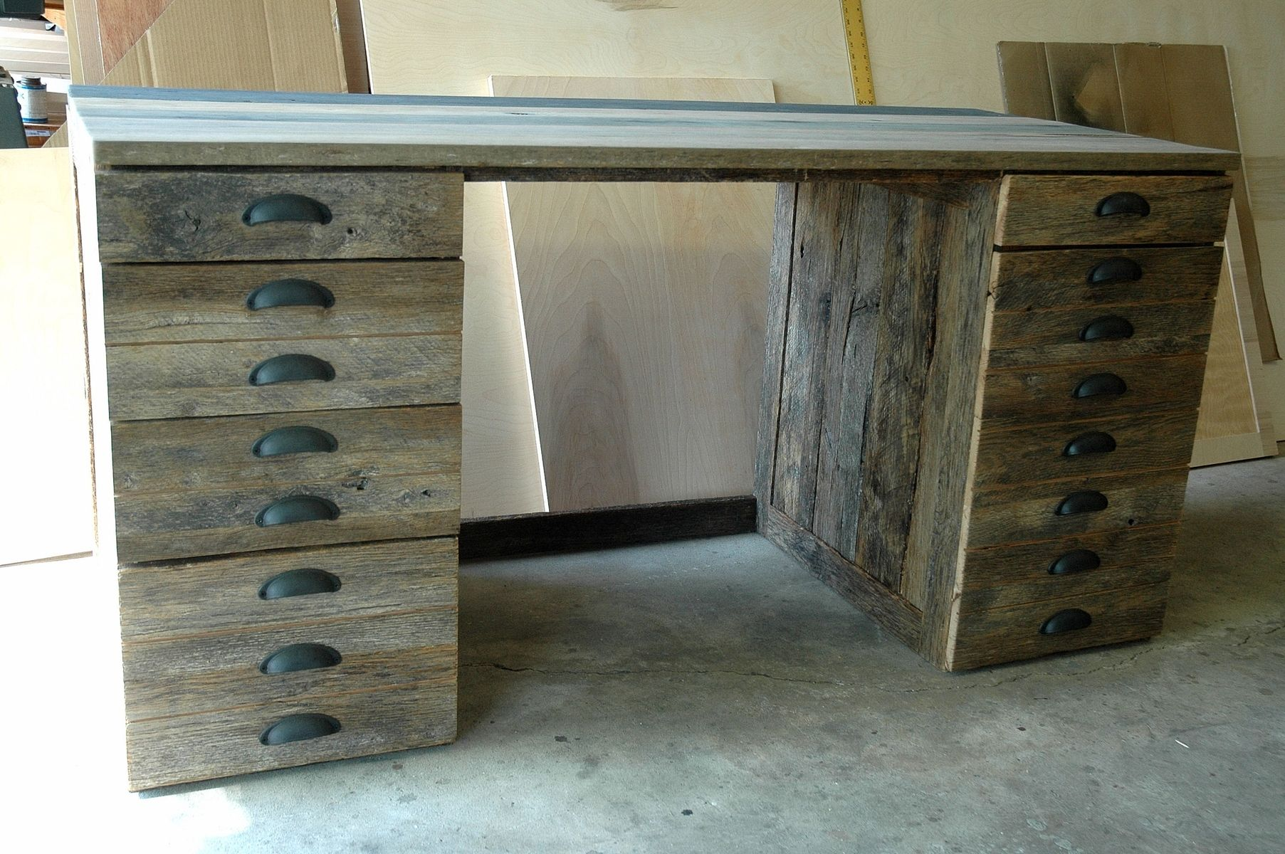 Hand Made Reclaimed Oak Wood Desk By Wooden It Be Nice