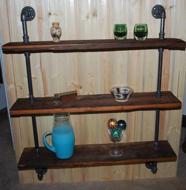 Custom Made Rustic Barnwood Triple Wall Shelf