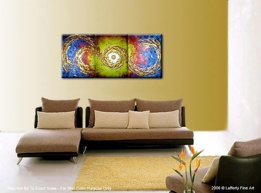 Custom Made Original Abstract Gold Metallic Textured Painting By Lafferty - 24 X 54 - Sale 22% Off