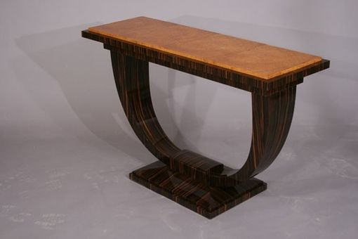 Custom Made Display Table In Macassar Ebony And Amboyna