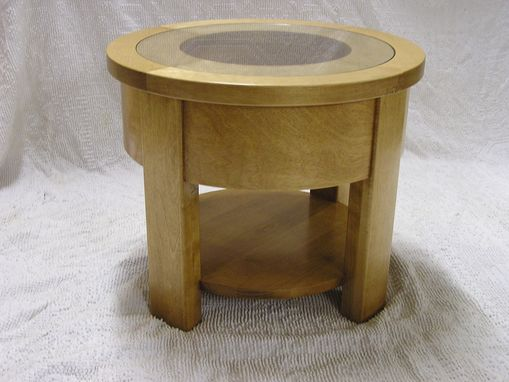 Custom Made Round Birch Display Table