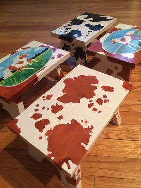 Custom Made Cow Print Stool