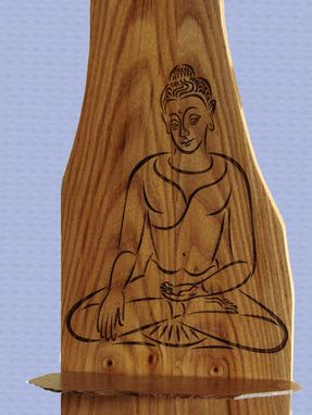 Custom Made Seated Buddha On Elm