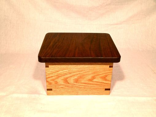 Custom Made Oak And Walnut Game Box