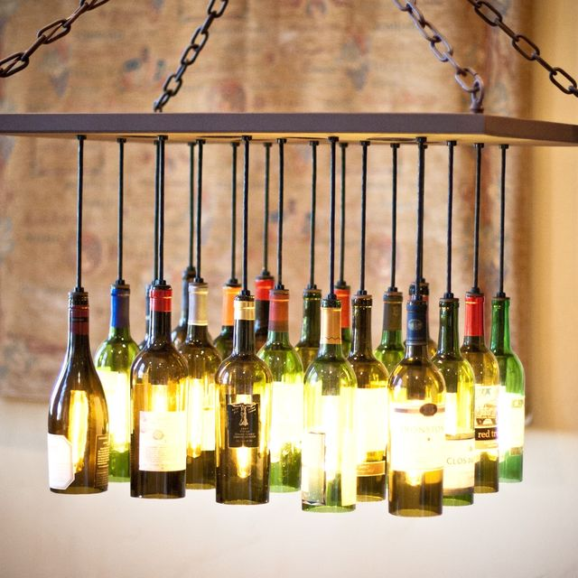 Custom wine bottle chandelier by by gordon living custommade mozeypictures Image collections