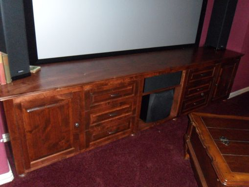 Custom Made Media Center With Drawers