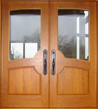 Custom Made Custom Cherry Entry Door