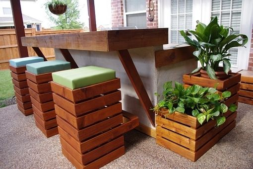 Custom Made 4board Planter
