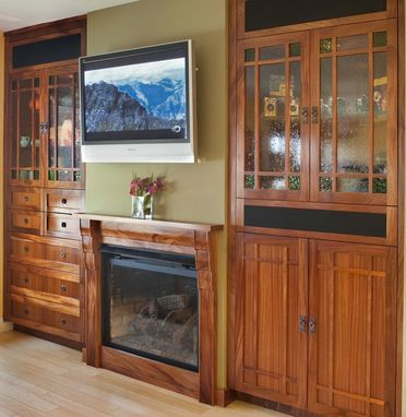 Custom Made Craftsman Cabinetry And Fire Place