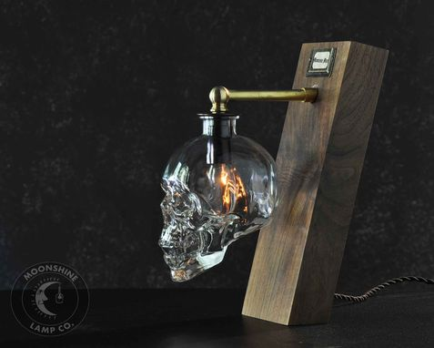 Custom Made The Balance - Skull Vodka Bottle Desk Lamp