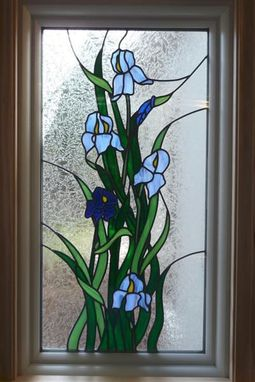 Custom Made Iris Art Glass