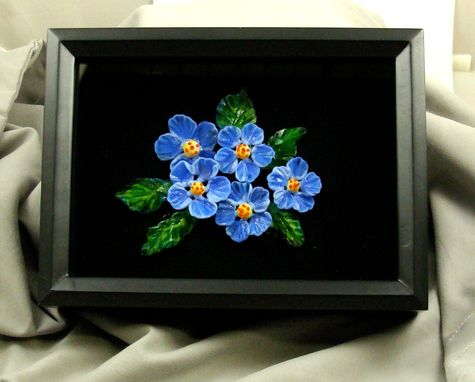 Custom Made Framed Floral Lampwork Glass