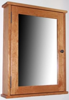 Custom Made Medicine Cabinet With Mirrored Door