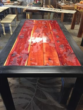 Custom Made Metal & Cedar Farm Table