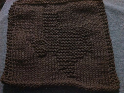 Custom Made Brown Knitted State Of Texas Cotton Cloth For Bathroom, Kitchen, And More
