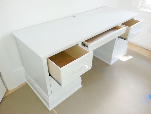 Custom Made Modern White Lacquer Desk