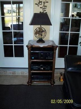 Custom Made Black Walnut Av Cabinet