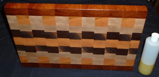 Custom Made Custom Traditional Workhorse Chopping Board, With Exotic Accents