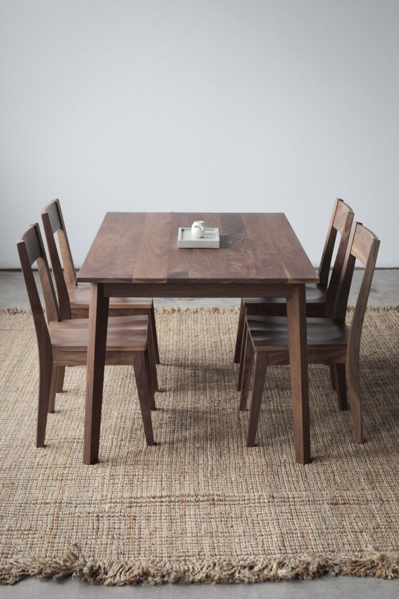 Dark Wood Finish Modern Dining Room W Optional Items: Handmade Walnut Ventura Table By Hedge House Furniture