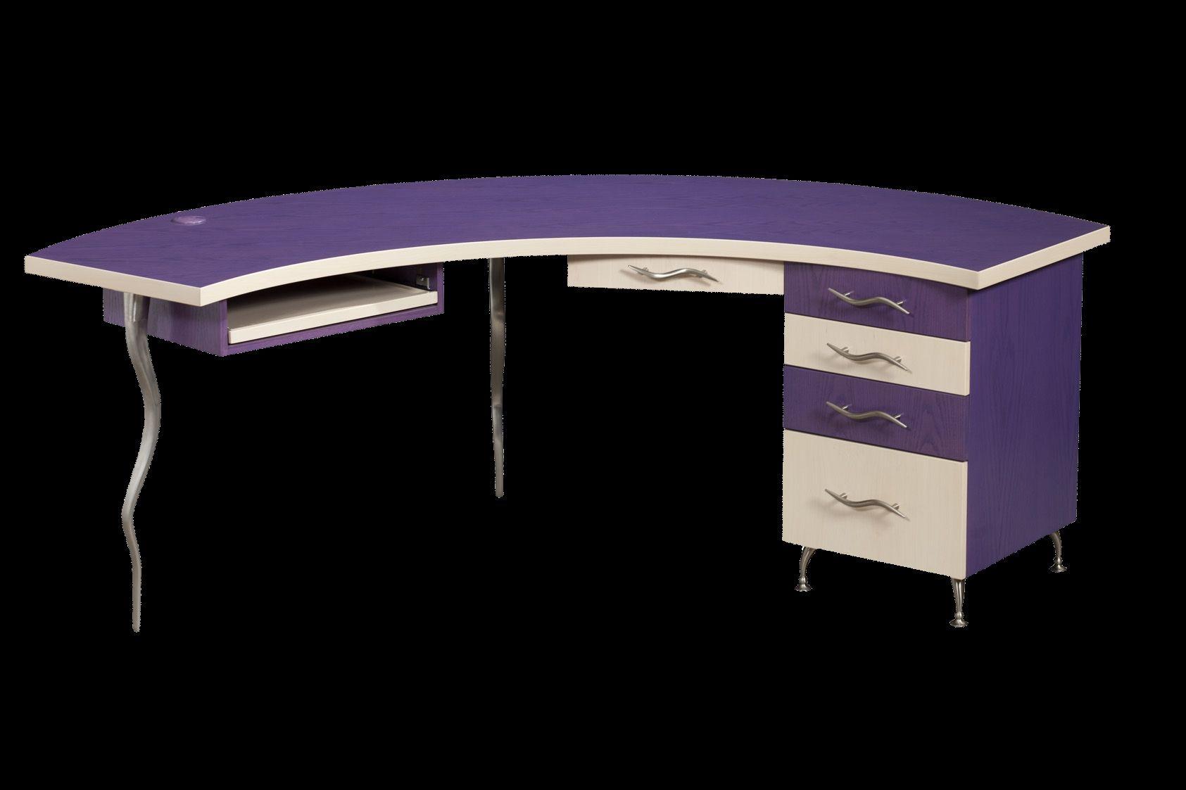 custom made demiluna designer desk funky modern cool - Designer Desks