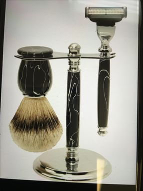 Custom Made Hand Crafted Razor Handles, Stands, And Brushes