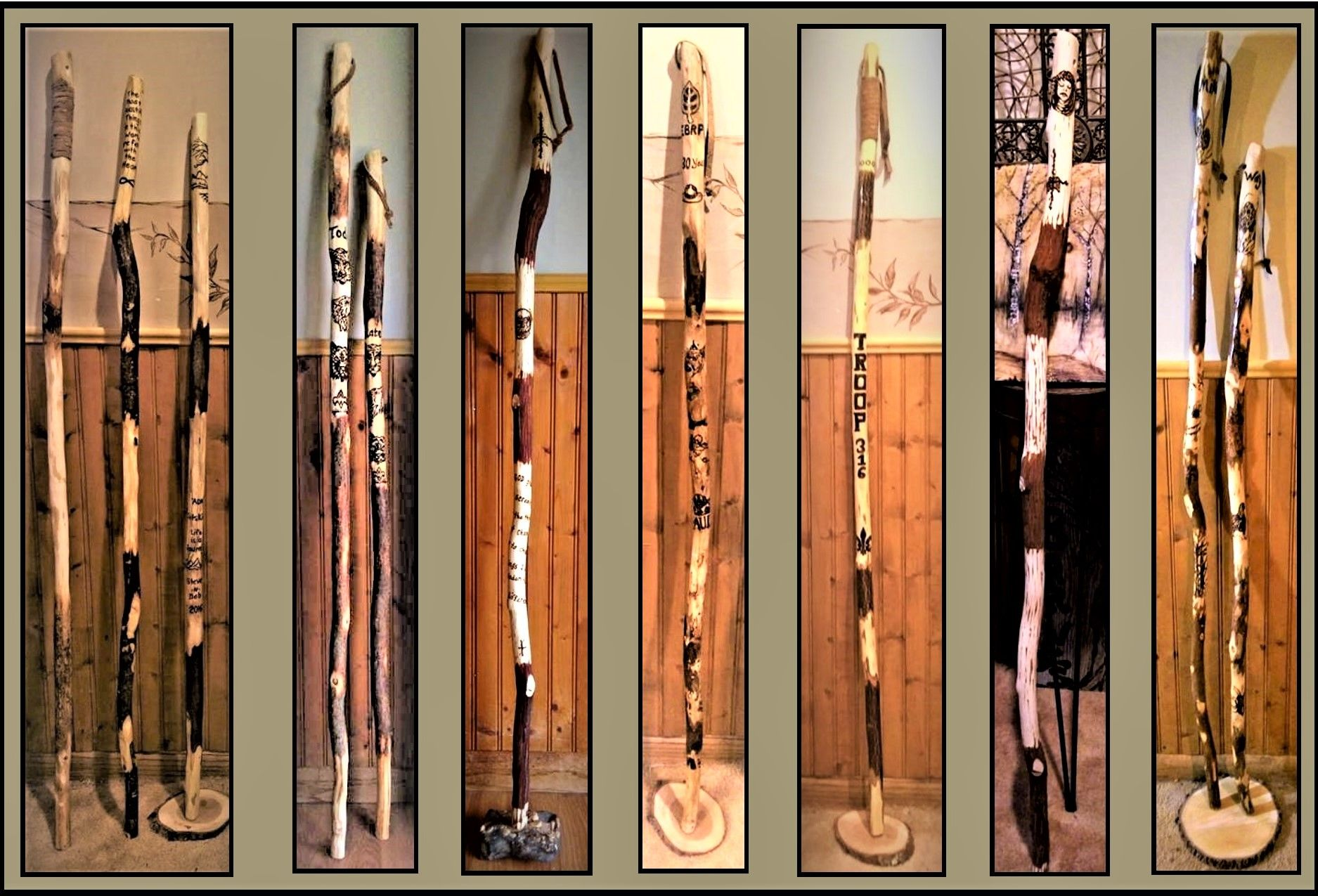Buy A Custom Made Hiking Stick Wood Anniversary Gift For