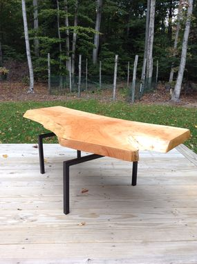 Custom Made Floating Slab Coffee Table