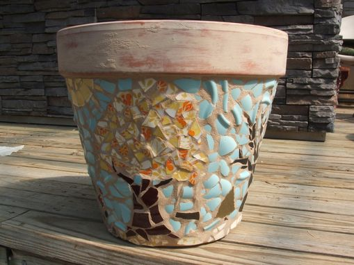 Custom Made Extra Large Terra Cotta Planter - Broken China Mosaic