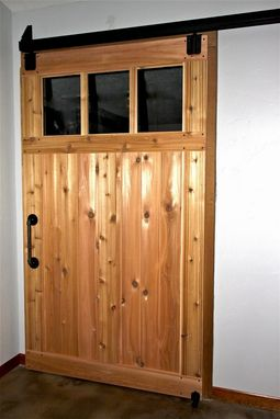 Hand Made Custom Cedar Sliding Barn Doors By Aaron Smith