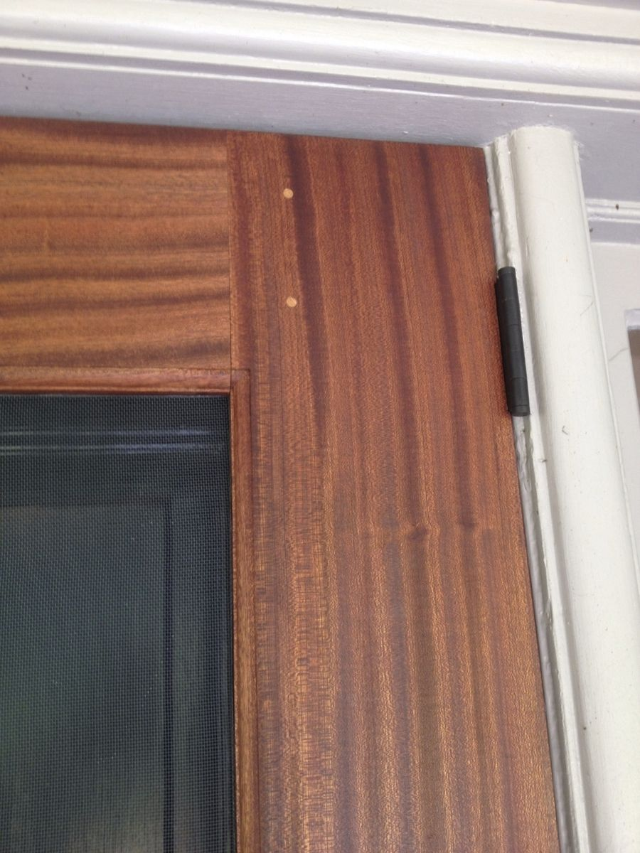 Custom Sapele Screen Storm Door By The Philadelphia