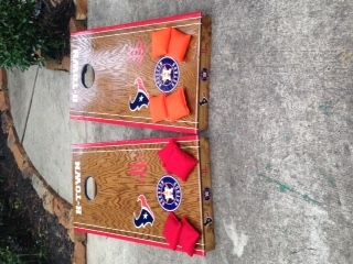 Custom Made My Outdoor Fun Custom Cornhole Boards Texans Astros Rockets