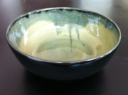 Custom Made Gemfox Pond And Sencha Ceramic Bowl Wheel Thrown Stoneware Pottery Sra Usa