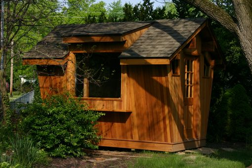 Custom Made Cedar Potting Shed
