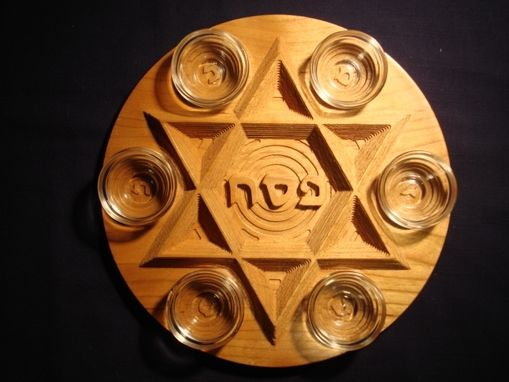 Custom Made Cherry Seder Plate