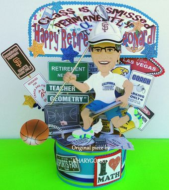 Custom Made Teacher Retirement Birthday Cake Topper