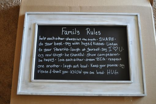 Custom Made Family Rules Sign